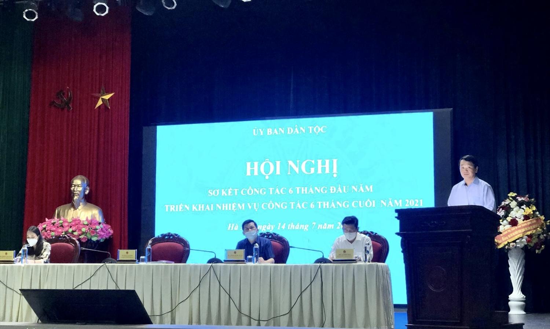 Bộ trưởng, Chủ nhiệm Hầu A Lềnh phát biểu chỉ đạo tại Hội nghị sơ kết 6 tháng đầu năm
