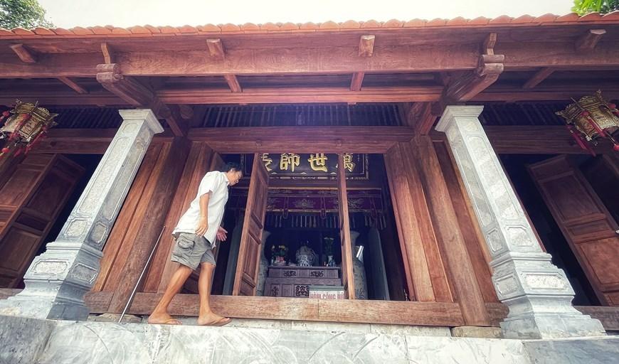 Nơi đây sử sách còn ghi về Cao Bá Quát (1809-1855) lãnh tụ cuộc khởi nghĩa Mỹ Lương tháng 12/1854. Dưới chân núi Hoàng Xá, ông chỉ huy nghĩa quân chiến đấu với quân nhà Nguyễn do Lê Thuận lãnh binh Sơn Tây cầm đầu. Cao Bá Quát bị tử thương tại trận. (Ảnh: Xuân Mai/Vietnam+)