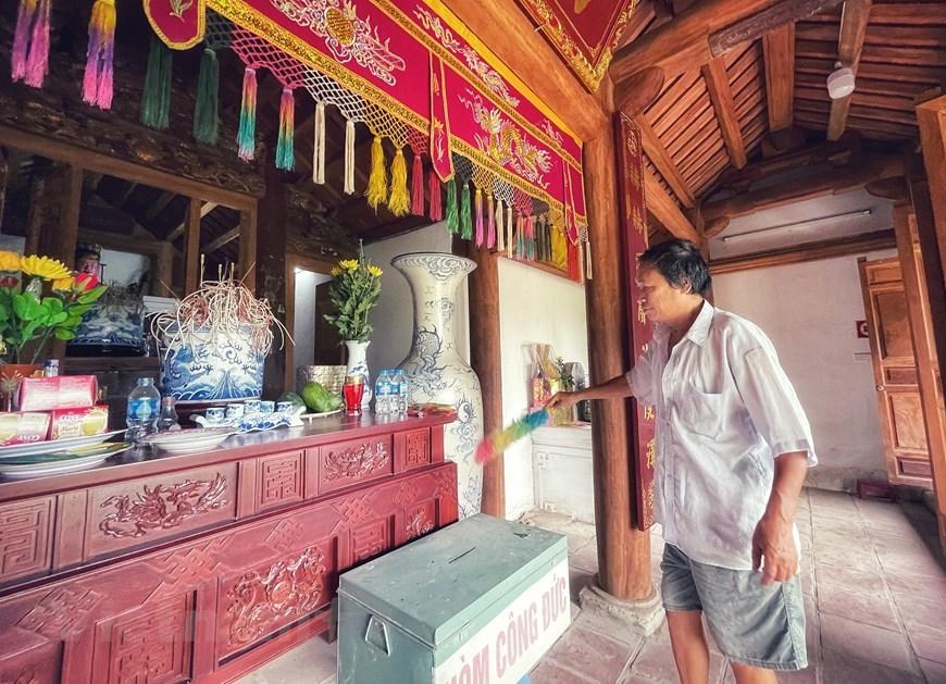 4 giờ 30 phút ngày 3/3/1947, trước khi lên Việt Bắc lãnh đạo cuộc kháng chiến chống thực dân Pháp, Bác Hồ đã nghỉ chân tại chùa Một Mái ngay dưới chân núi Hoàng Xá. (Ảnh: Xuân Mai/Vietnam+)