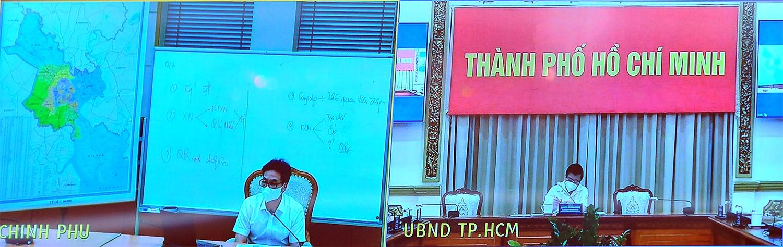 Liên quan đến công tác hỗ trợ người lao động, Chủ tịch UBND TPHCM Nguyễn Thành Phong cho biết, Thành phố đã hỗ trợ hơn 130.000 lao động tự do với khoảng 195 tỷ đồng, đạt 57% kế hoạch đề ra. Ảnh: VGP/Đình Nam