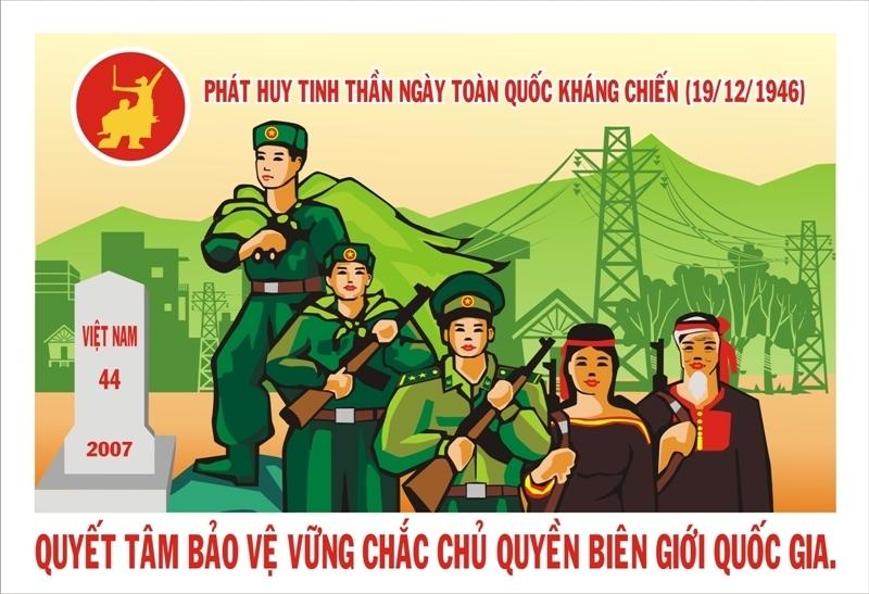 Tranh cổ động Kỷ niệm Ngày toàn quốc kháng chiến (nguồn: Cục Văn hóa cơ sở).