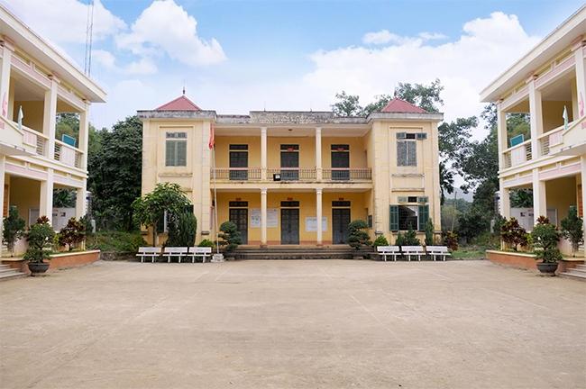 Trụ sở UBND xã Quý Hòa được xây dựng khang trang
