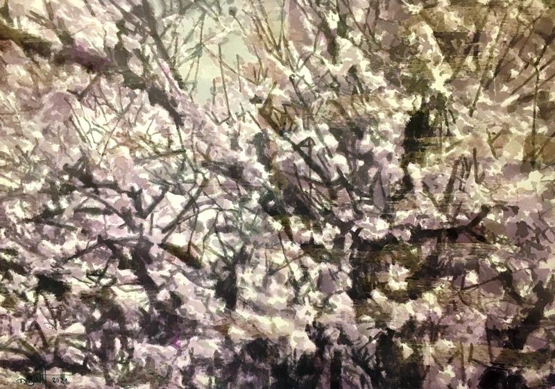 Một số tác phẩm tranh màu nước trên giấy dó của họa sĩ Vũ Thái Bình
