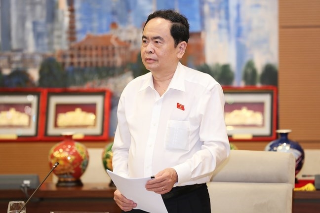 Phó Chủ tịch Thường trực Quốc hội Trần Thanh Mẫn phát biểu tại Hội nghị