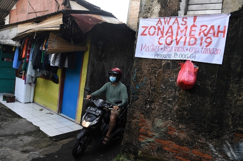 Indonesia ghi nhận ngày thứ hai liên tiếp số ca mắc mới COVID-19 ở mức trên 50.000 ca/ngày  (Ảnh: The Jakarta Post)