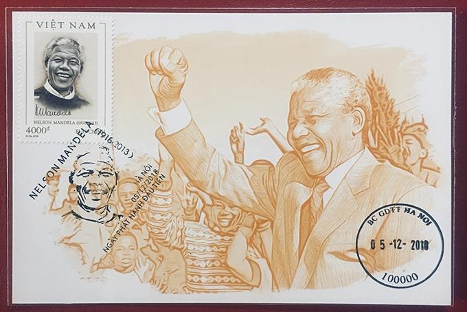 Tem phát hành tại Việt Nam nhân kỷ niệm 100 ngày sinh Nelson Mandela