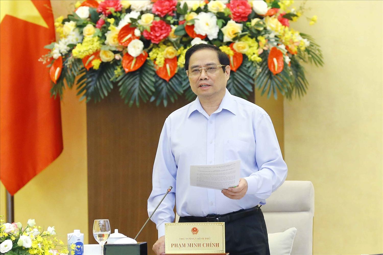 Thủ tướng Chính phủ Phạm Minh Chính phát biểu tại cuộc họp. Ảnh:VGP/Nguyễn Hoàng