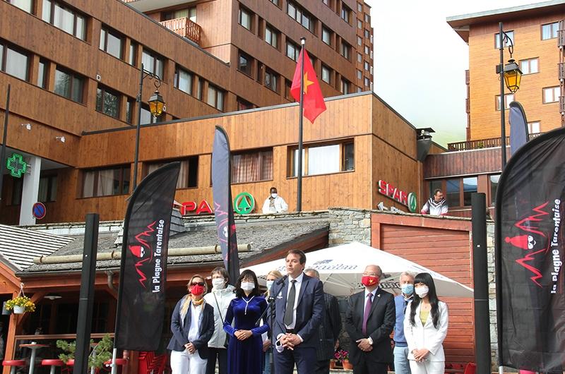 Thị trưởng Jean-Luc Boch nhấn mạnh ý nghĩa của những ngày Việt Nam tại La Plagne