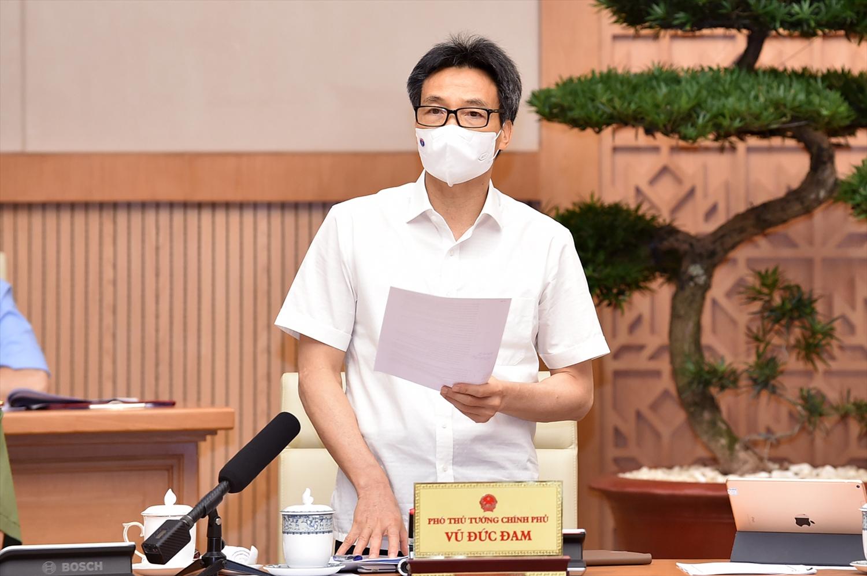 Phó Thủ tướng Vũ Đức Đam, Trưởng Ban Chỉ đạo quốc gia nhấn mạnh, phải kiên định cách làm và đẩy cao thêm một mức cách mà chúng ta đã làm từ trước đến nay trên toàn quốc- Ảnh: VGP/Nhật Bắc