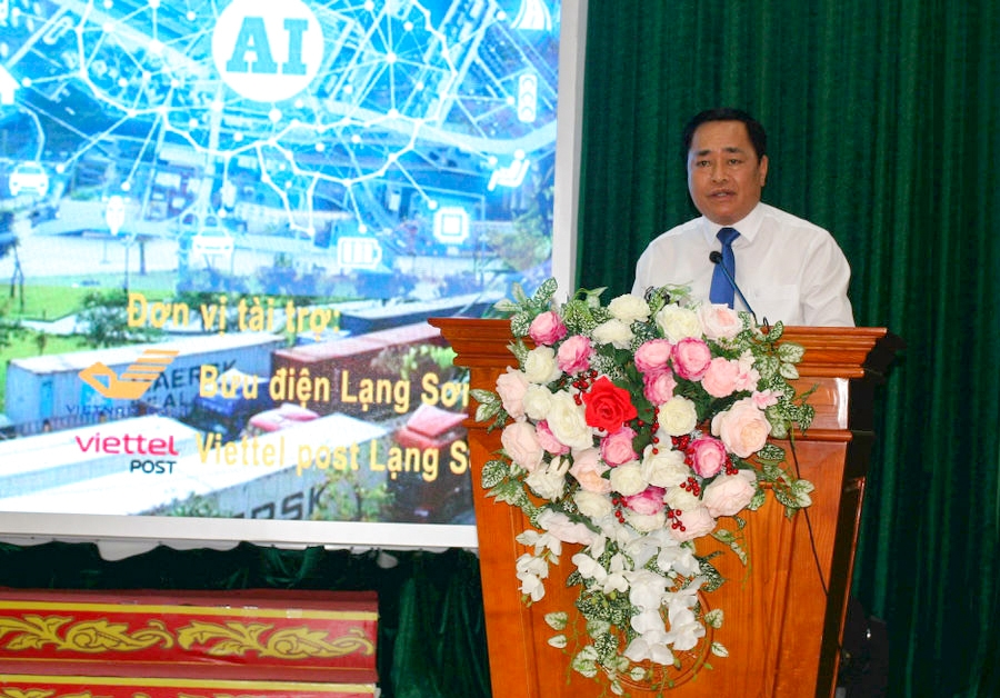 Ông Hồ Tiến Thiệu, Chủ tịch UBND tỉnh Lạng Sơn phát biểu tại Lễ ra quân
