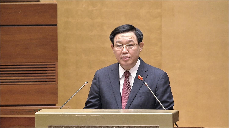Chủ tịch Quốc hội Vương Đình Huệ phát biểu khai mạc Kỳ họp