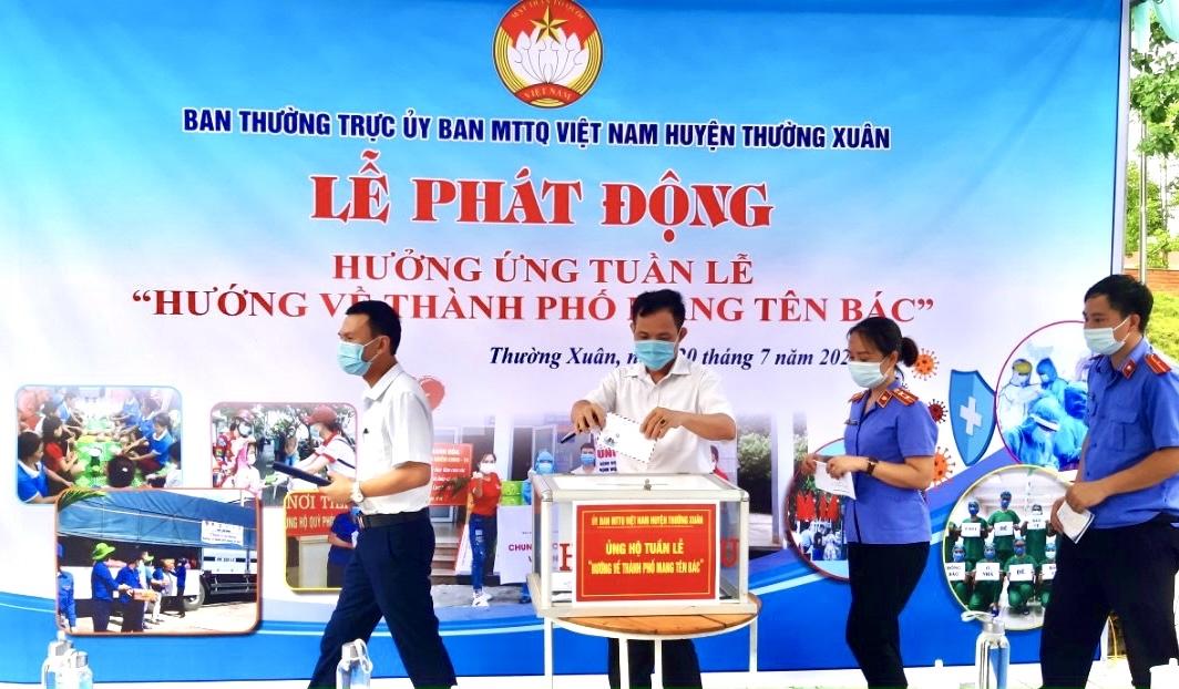 """Ủy ban MTTQ Việt Nam huyện Thường Xuân phát động Tuần lễ """"Hướng về thành phố mang tên Bác"""""""