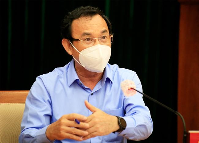 Bí thư Thành ủy TP. Hồ Chí Minh Nguyễn Văn Nên phát biểu tại cuộc họp