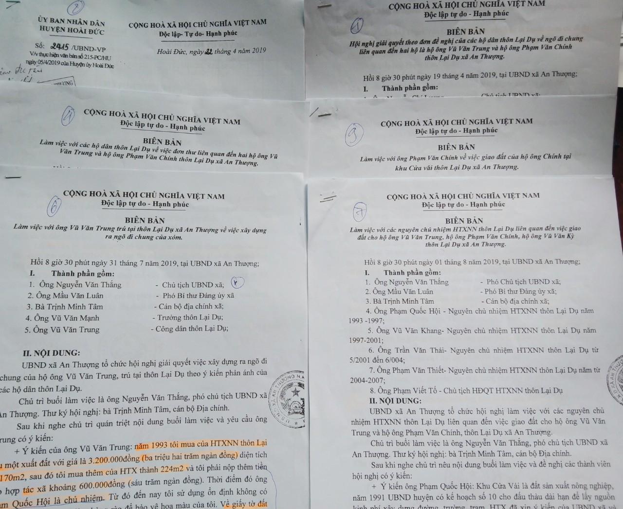 Các văn bản chỉ đạo của Huyện ủy, UBND huyện Hoài Đức