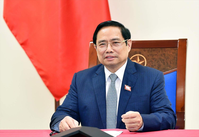 Thủ tướng Phạm Minh Chính điện đàm với Thủ tướng Nội các Hàn Quốc Kim Boo Kyum. Ảnh: VGP/Nhật Bắc