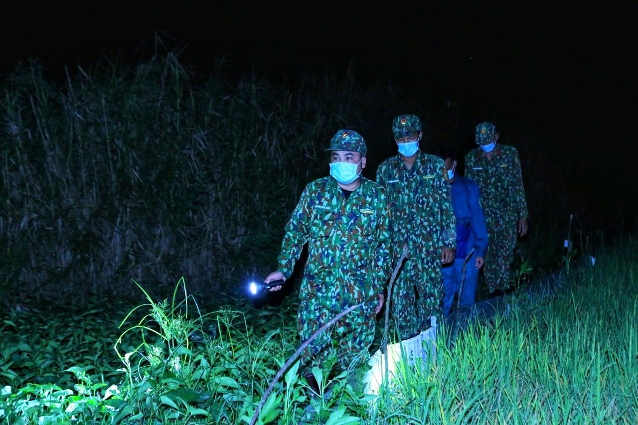 Lực lượng BĐBP tuần tra trên tuyến biên giới