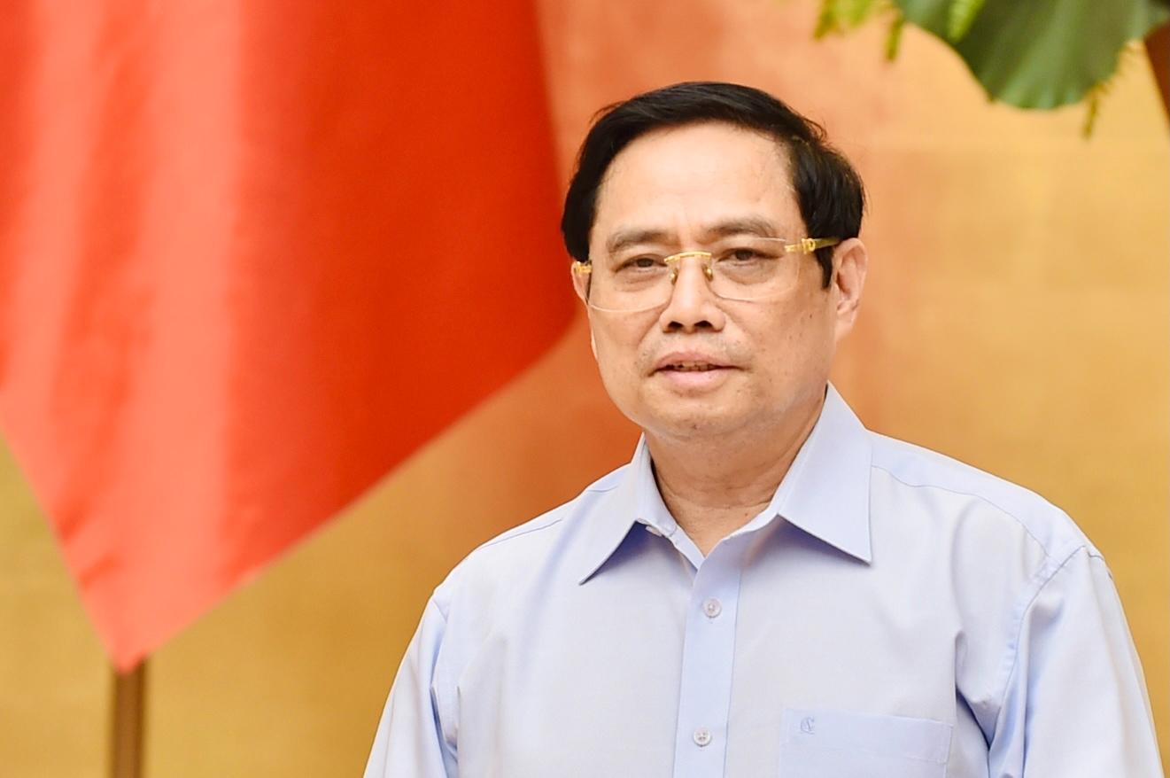 Thủ tướng Phạm Minh Chính nhấn mạnh phải chủ động phòng dịch, luôn đề cao cảnh giác, tuyệt đối không được chủ quan, lơ là - Ảnh: VGP/Nhật Bắc