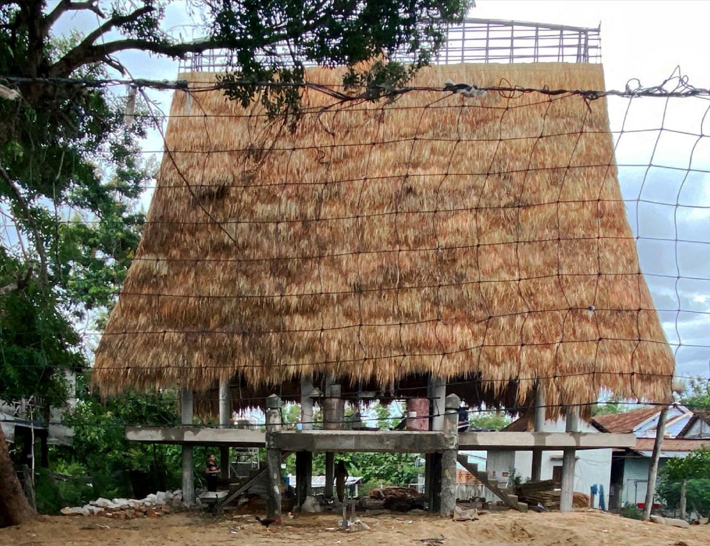 Nhà Rông mới vẫn mang đậm dáng dấp của nhà Rông truyền thống