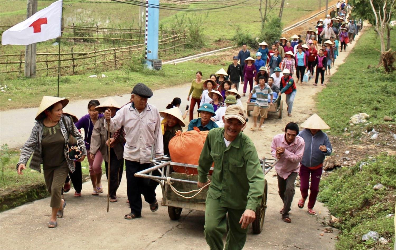Diễn tập PCTT ở Quảng Bình