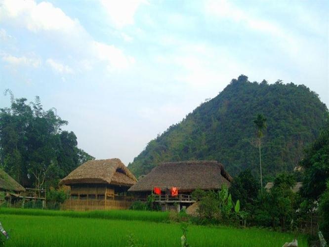 100% nhà sàn trong thôn vẫn giữ được nét văn hóa đặc sắc của dân tộc Tày. Ảnh T.L