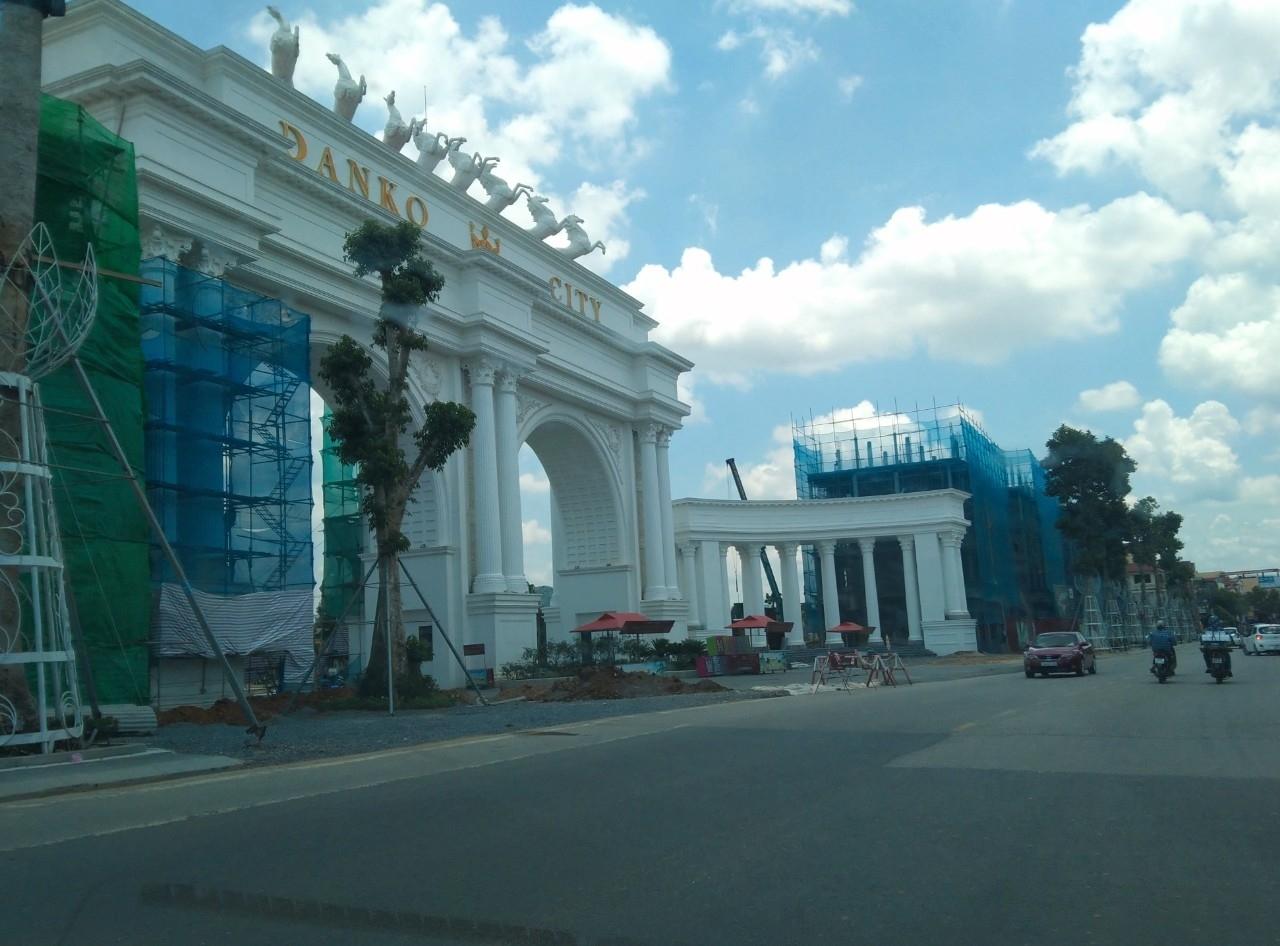 Cổng của Dự án Danko city Thái Nguyên đã được hoàn thiện