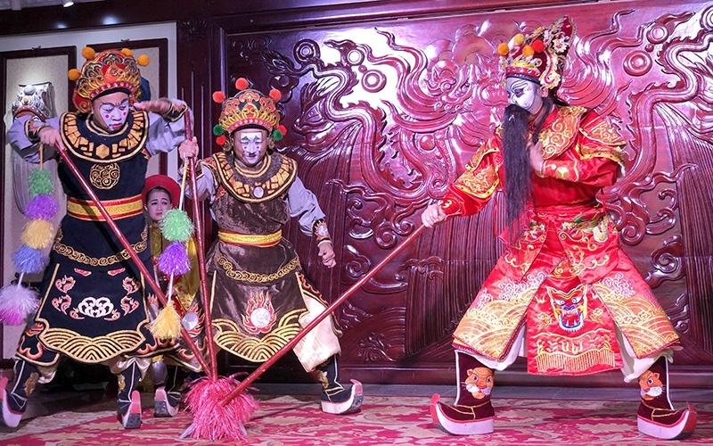 Một trích đoạn tuồng cổ do các nghệ sĩ Nhà hát Tuồng Việt Nam biểu diễn. (Ảnh minh họa)