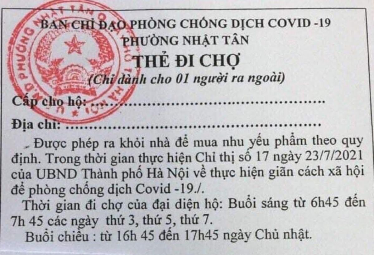 Hà Nội thí điểm phát thẻ đi chợ theo giờ 1