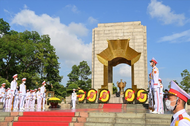 Kỷ niệm 74 năm Ngày Thương binh-Liệt sĩ. Ảnh CP