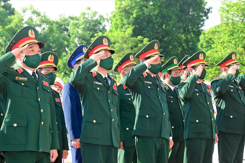 Đoàn đại biểu Quân ủy Trung ương - Bộ Quốc phòng. Ảnh CP