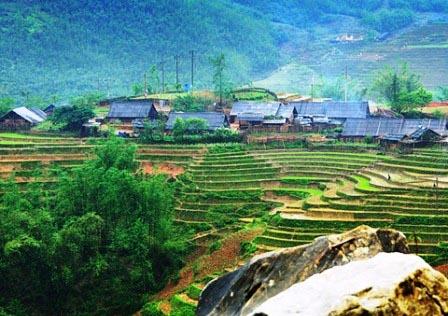 Bản làng của người Giáy ở Lào Cai (Ảnh minh họa)