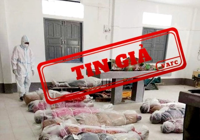 Hình ảnh kèm thông tin giả, sai sự thật về tình hình dịch Covid-19 ở TP. Hồ Chí Minh