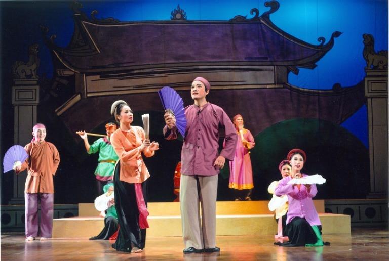 Một hoạt cảnh trong sân khấu chèo truyền thống