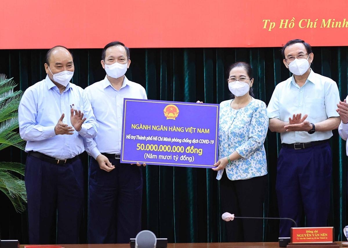 Ngành ngân hàng hỗ trợ TPHCM 50 tỷ đồng cho công tác phòng, chống dịch bệnh - Ảnh: VGP