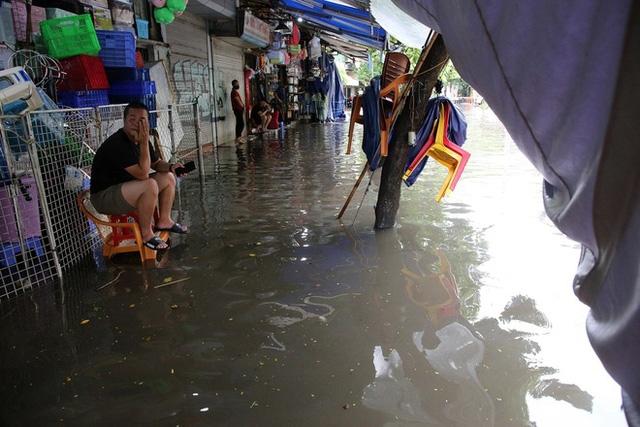 Mùa mưa Hà Nội dễ ngập lụt (Ảnh minh họa).