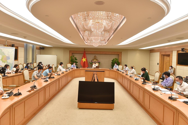 Ban Chỉ đạo thống nhất, kiến nghị Thủ tướng Chính phủ tiếp tục thực hiện giãn cách xã hội theo Chỉ thị 16/CT-TTg tại 19 tỉnh, thành phố khu vực phía Nam thêm 14 ngày. Ảnh: VGP/Đình Nam