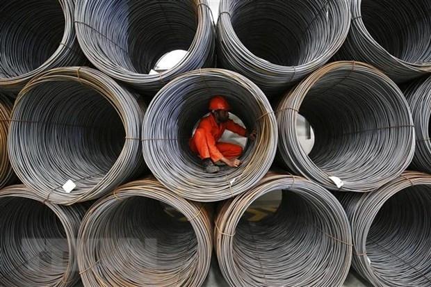 Từ đầu năm đến nay, giá thép tăng 40-45%. (Ảnh: AFP/TTXVN)