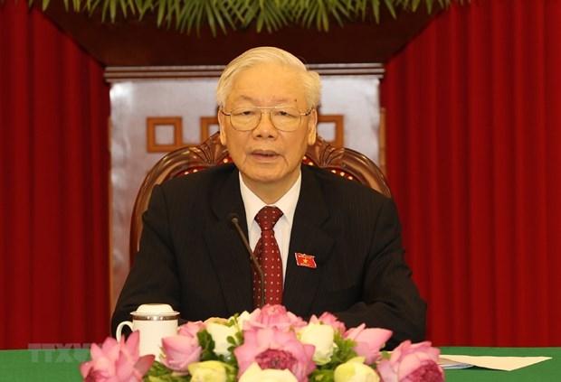 Tổng Bí thư Nguyễn Phú Trọng. Ảnh: Trí Dũng/TTXVN