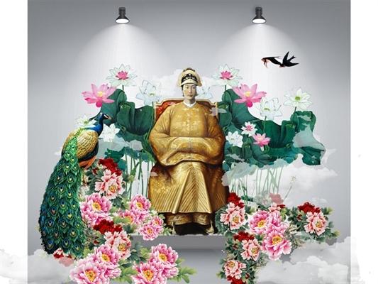 Tượng Hoàng hậu Nam Phương đặt ở giữa bảo tàng