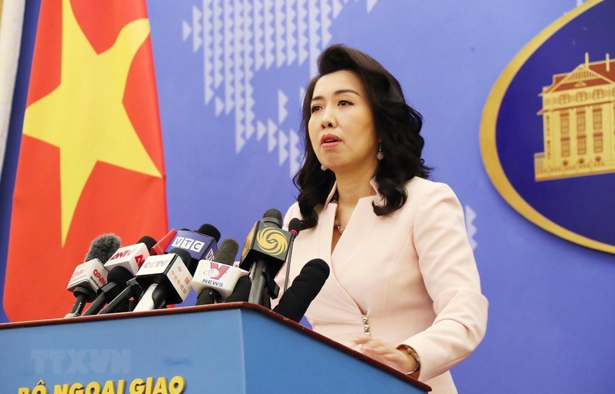 Người phát ngôn Bộ Ngoại giao Lê Thị Thu Hằng trả lời câu hỏi của phóng viên các cơ quan thông tấn, báo chí trong nước và quốc tế