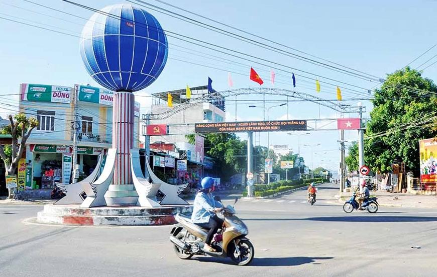 Một góc thị xã Ayun Pa (Gia Lai) thanh bình khi chưa có dịch Covid-19