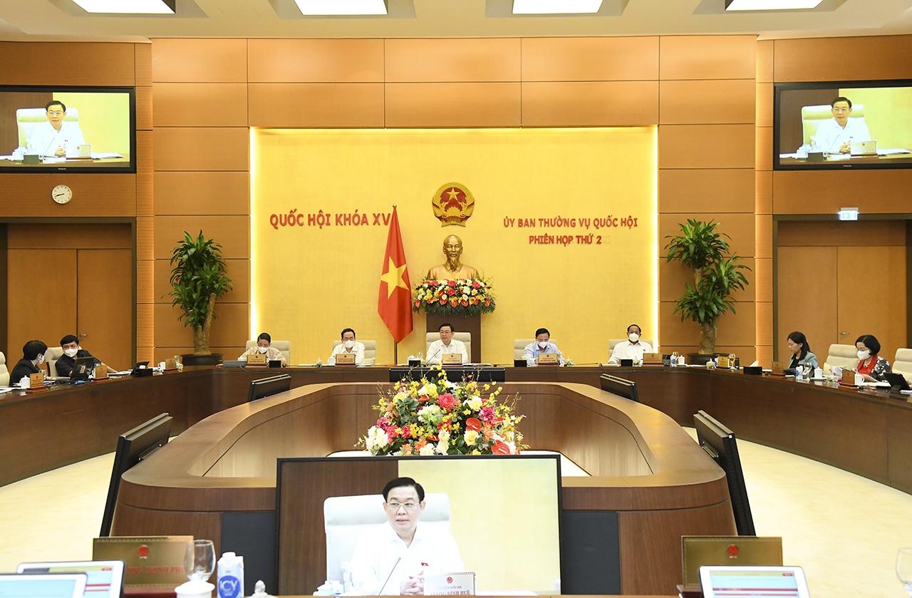 Ủy ban Thường vụ Quốc hội tổng kết Kỳ họp thứ nhất, Quốc hội khóa XV và cho ý kiến bước đầu về việc chuẩn bị Kỳ họp thứ 2, Quốc hội khóa XV