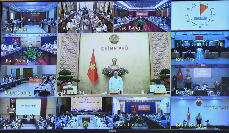 Hội nghị trực tuyến toàn quốc với các địa phương về công tác lập quy hoạch. (Ảnh: TRẦN HẢI)