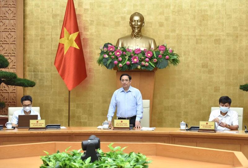 Thủ tướng Chính phủ Phạm Minh Chính phát biểu tại Hội nghị. (Ảnh: TRẦN HẢI)