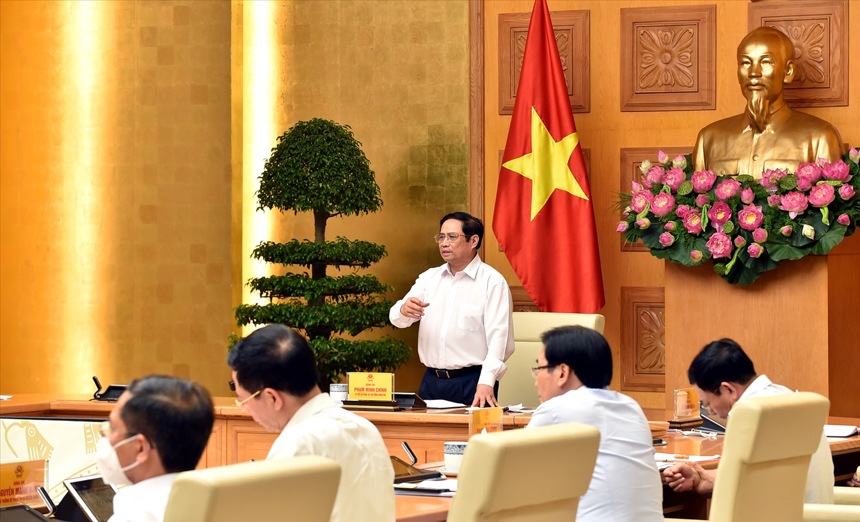 Thủ tướng Phạm Minh Chính nhấn mạnh, cách ly là để lo cho dân, vì sức khỏe và tính mạng của nhân dân. - Ảnh: VGP/Nhật Bắc