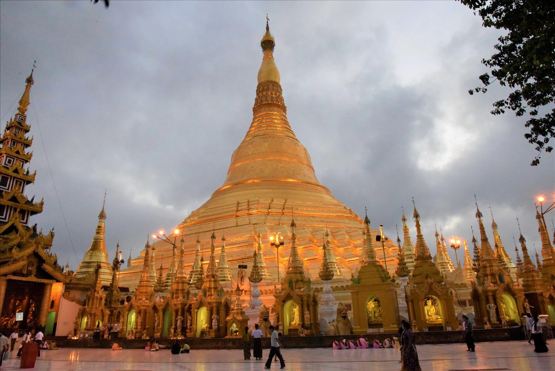 Chùa Vàng ở thành phố Yangon