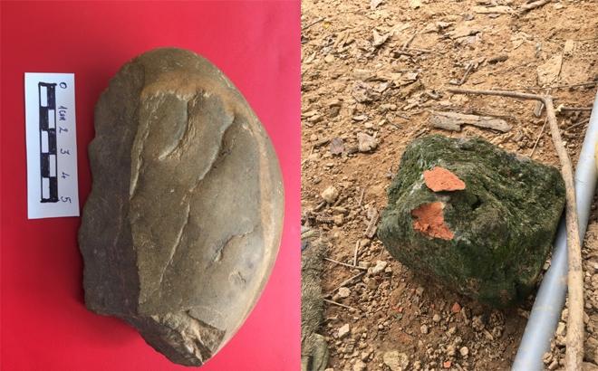 Hiện vật phát hiện tại thôn Ngòi Sen. Ảnh: baoyenbai