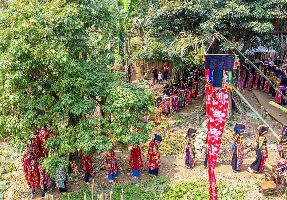 Lễ ma khô của dân tộc Lô Lô, xóm Khuổi Khon, xã Kim Cúc, huyện Bảo Lạc (Cao Bằng) được gìn giữ, bảo tồn