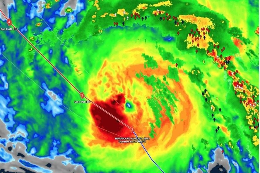 Theo tin bão mới nhất, cơn bão số 9 Ida dự kiến sẽ mạnh lên cấp 4 trước khi đổ bộ Louisiana, Mỹ vào 29/8.