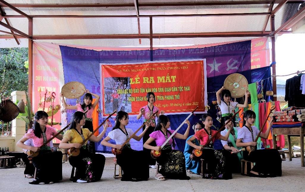 Bồi dưỡng thế hệ kế cận là mục tiêu hướng tới của CLB Văn hóa dân gian dân tộc Thái thôn Đoàn Kết, thị trấn Phong Thổ (Lai Châu)