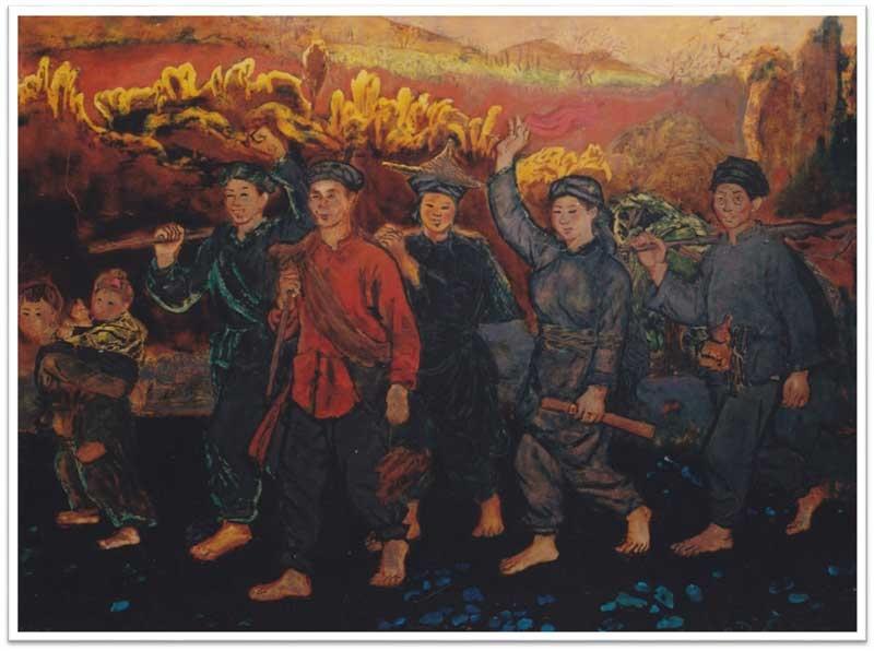 """""""Du kích Bắc Sơn về bản Pình"""" (Nguyễn Văn Tỵ)"""